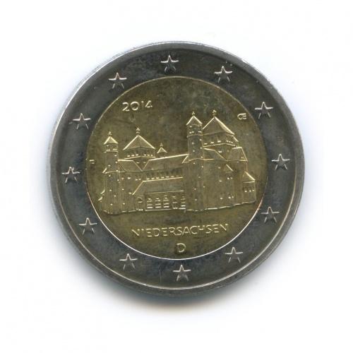 2 евро - Федеральные земли Германии: церкви Св. Михаила вХильдесхайме, Нижняя Саксония 2014 года D (Германия)