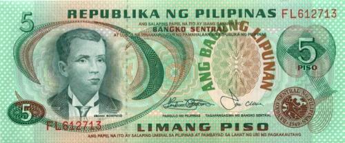 5 песо 1949 года (Филиппины)