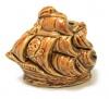 Подставка «Пиратский корабль» (обливная керамика, 6,5 см)