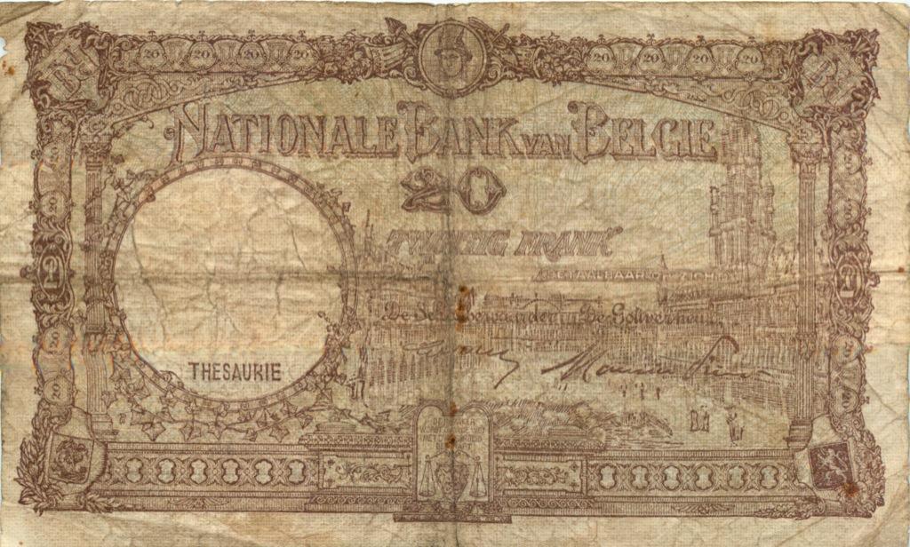 20 франков 1948 года (Бельгия)