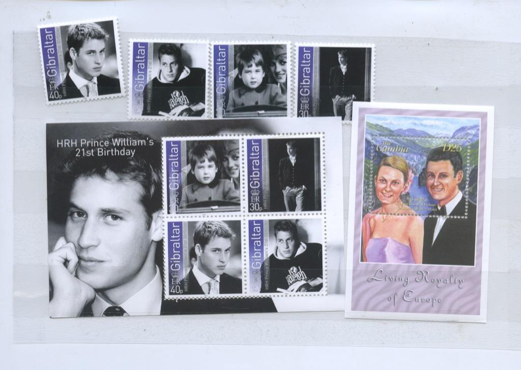 Набор почтовых марок (Норвегия, Гибралтар)