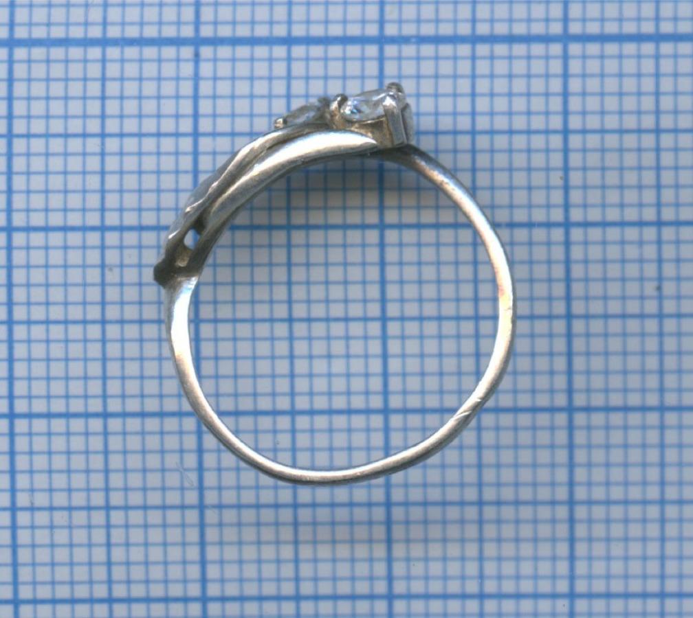 Кольцо (серебро, 925 проба, клеймо КВЭП)