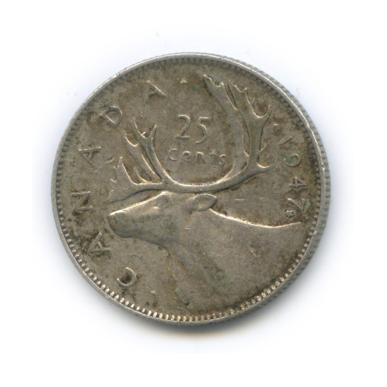 25 центов (квотер) 1947 года (Канада)