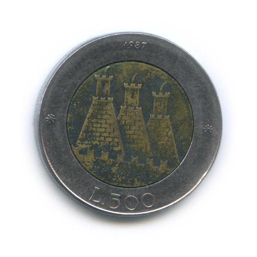 500 лир - 15 лет возобновлению чеканке монет 1987 года (Сан-Марино)