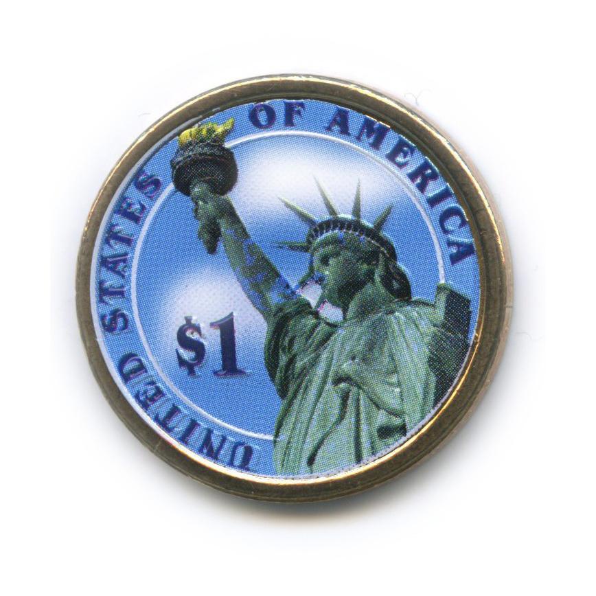 1 доллар — 20-ый Президент США - Джеймс Гарфилд (1881), цветная эмаль 2011 года D (США)