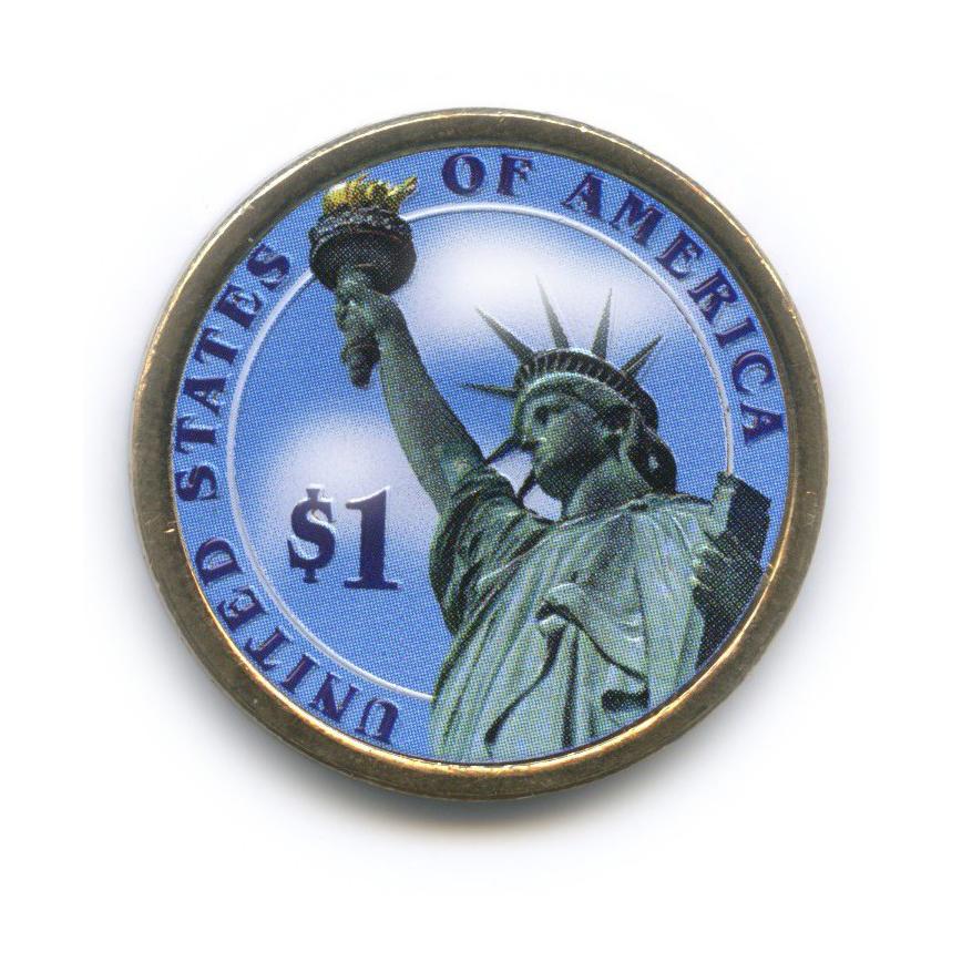 1 доллар — 8-ой Президент США - Мартин Ван Бюрен (1837-1841), цветная эмаль 2008 года D (США)