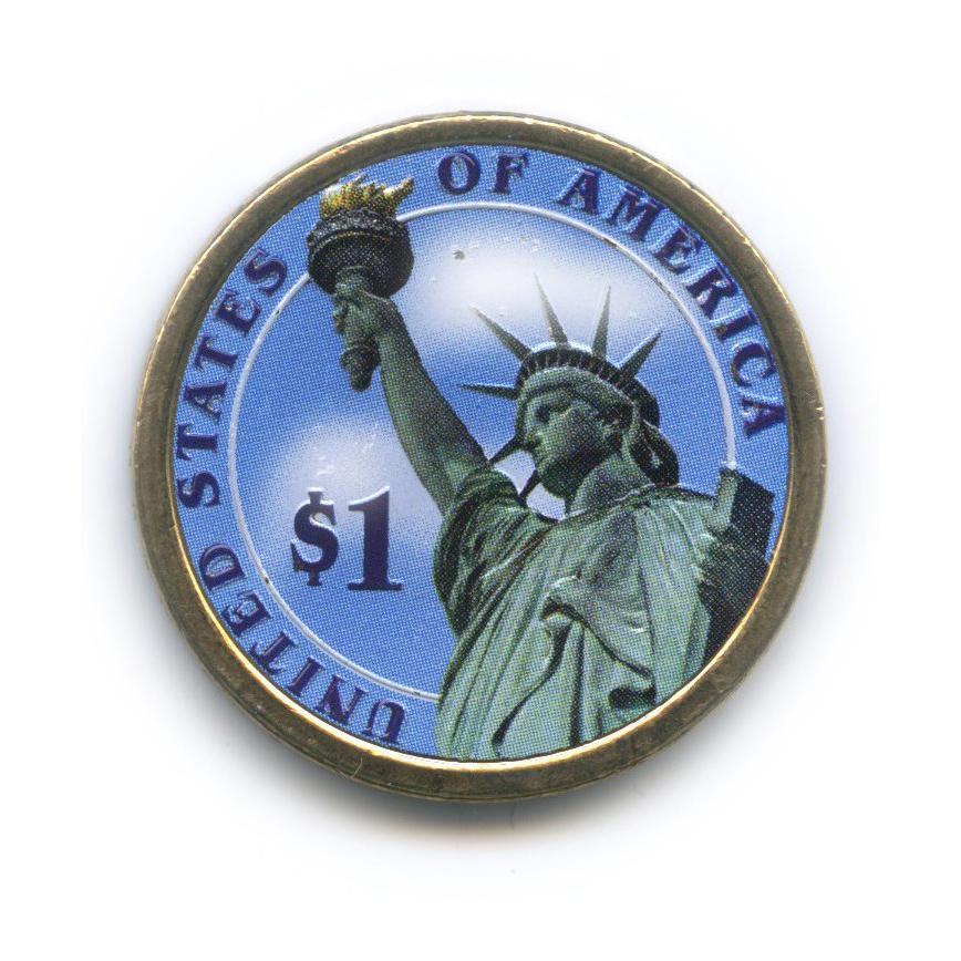 1 доллар — 5-ый Президент США - Джеймс Монро (1817-1825), цветная эмаль 2008 года P (США)