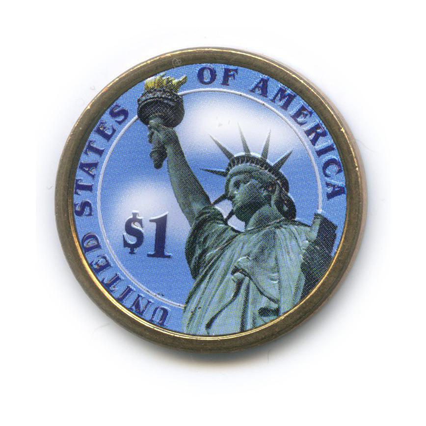1 доллар — 3-ий Президент США - Томас Джеферсон (1801-1809), цветная эмаль 2007 года D (США)