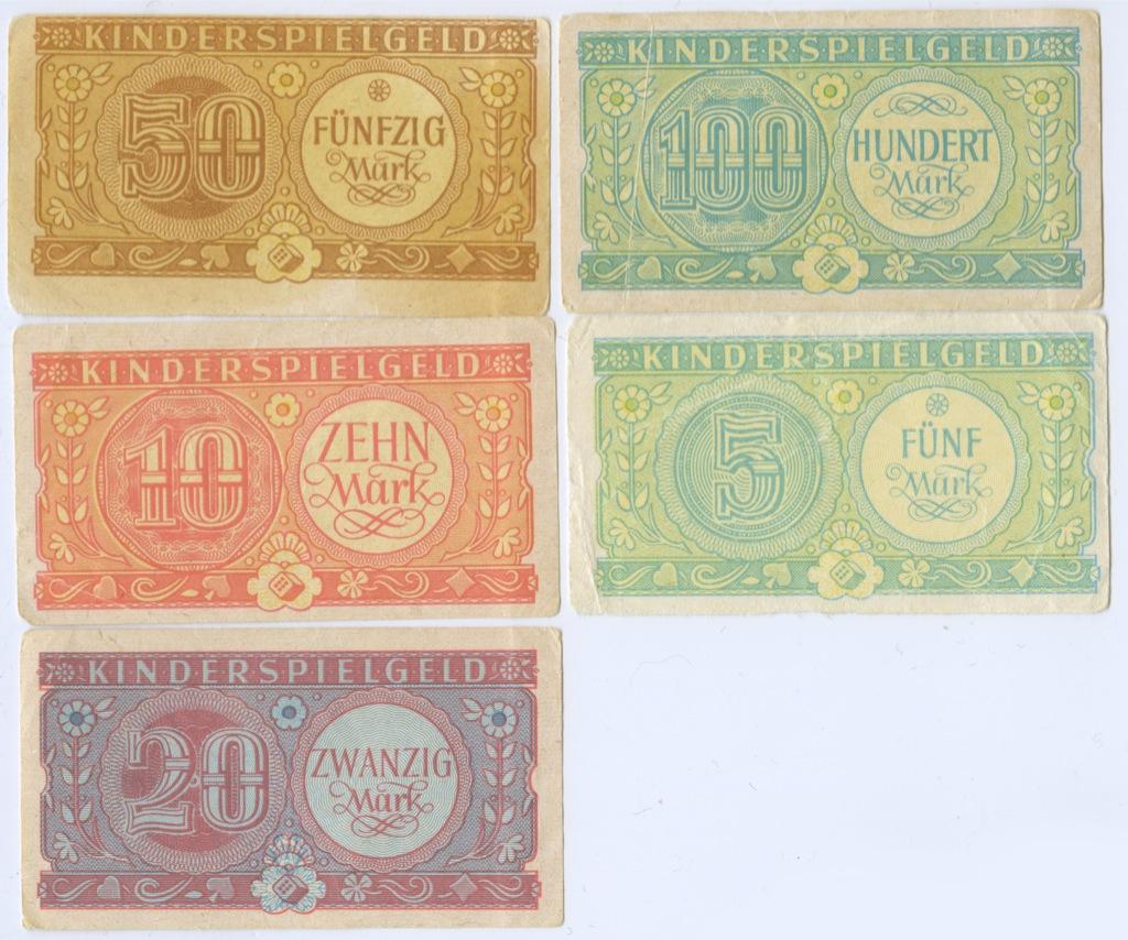 Набор банкнот (детские игровые деньги) (Германия)
