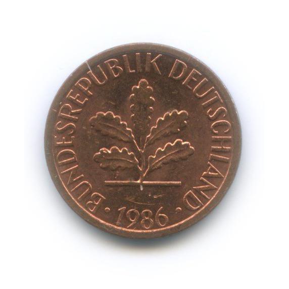 1 пфенниг 1986 года D (Германия)