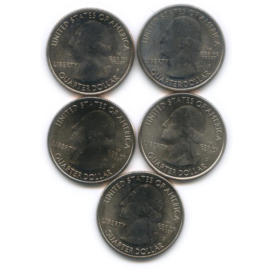 Набор юбилейных монет 25 центов (квотер) 2010-2014 D, P (США)