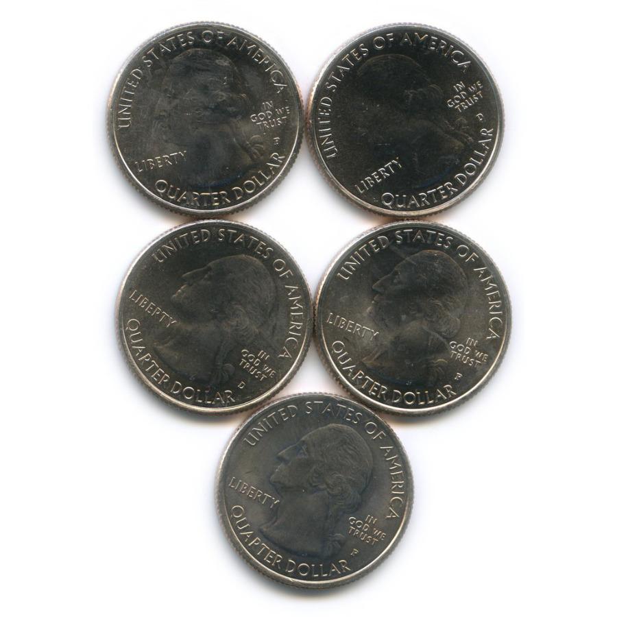 Набор юбилейных монет 25 центов (квотер) 2014, 2015 Р, D (США)