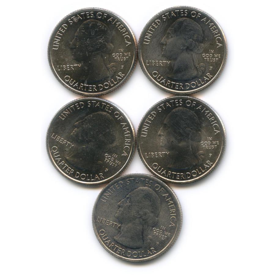 Набор юбилейных монет 25 центов (квотер) 2010-2013 Р (США)