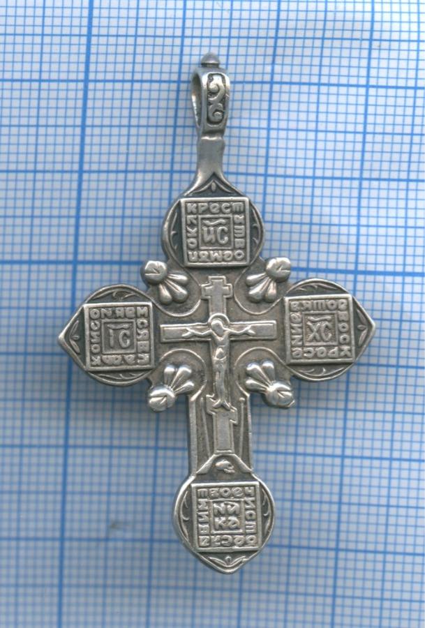 Крестик нательный (серебро 925 пробы, 6×3,5 см)