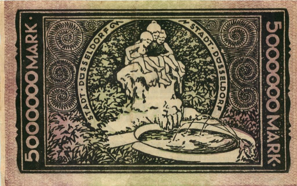 5 миллионов марок (Дюссельдорф) 1923 года (Германия)