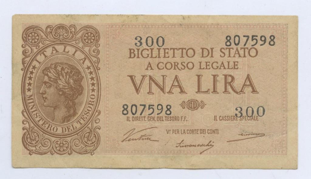 1 лира 1944 года (Италия)