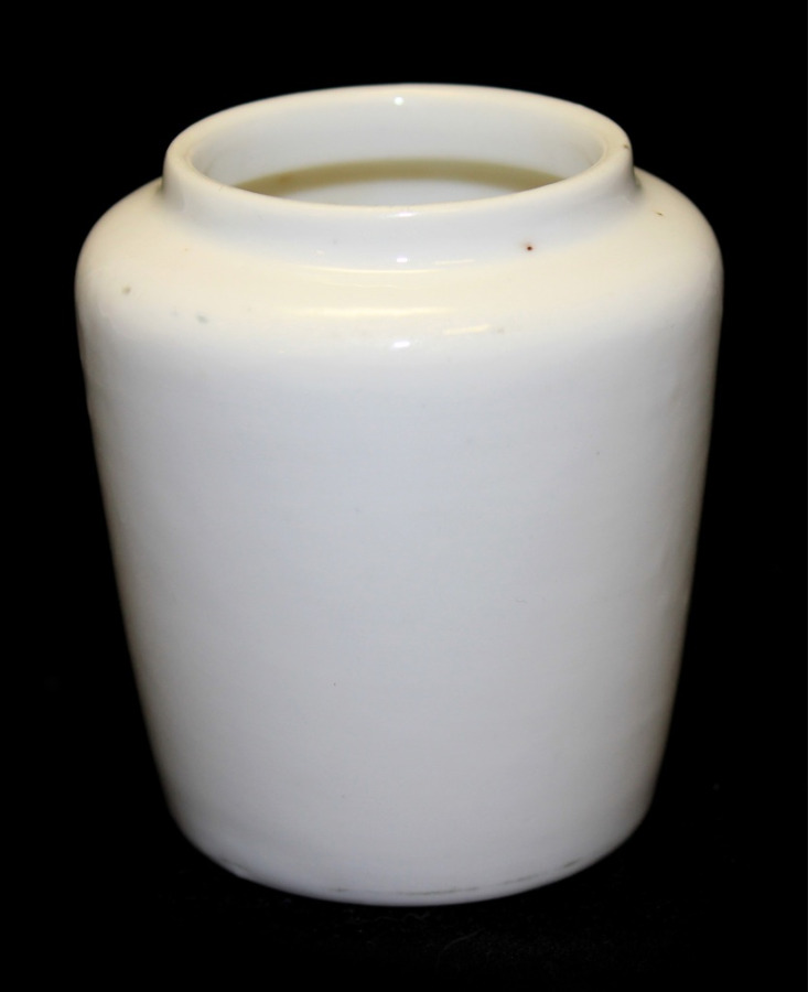 Горчичница (фарфор, клеймо «Т-во М. С. Кузнецова», 7 см)