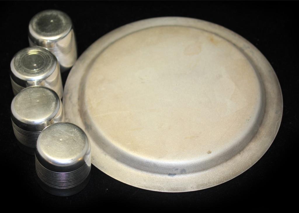 Набор коньячный/ликерный (мельхиор, золочение, 16 см, 3,5 см)