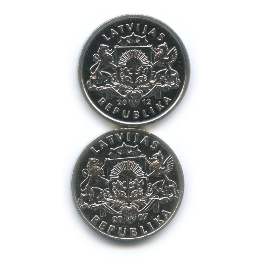 Набор монет 1 лат 2007, 2012 (Латвия)