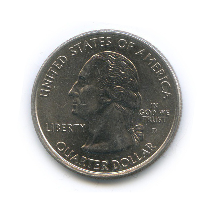 25 центов (квотер) — Квотер штата Оклахома 2008 года D (США)