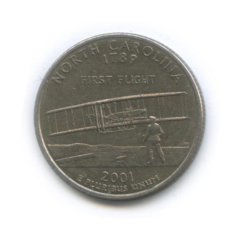 25 центов (квотер) — Квотер штата Северная Каролина 2001 года D (США)