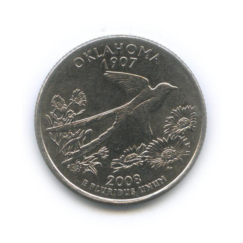 25 центов (квотер) — Квотер штата Оклахома 2008 года P (США)