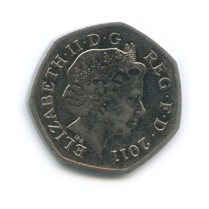 50 пенсов — XXX летние Олимпийские Игры, Лондон 2012 - Гандбол 2011 года (Великобритания)