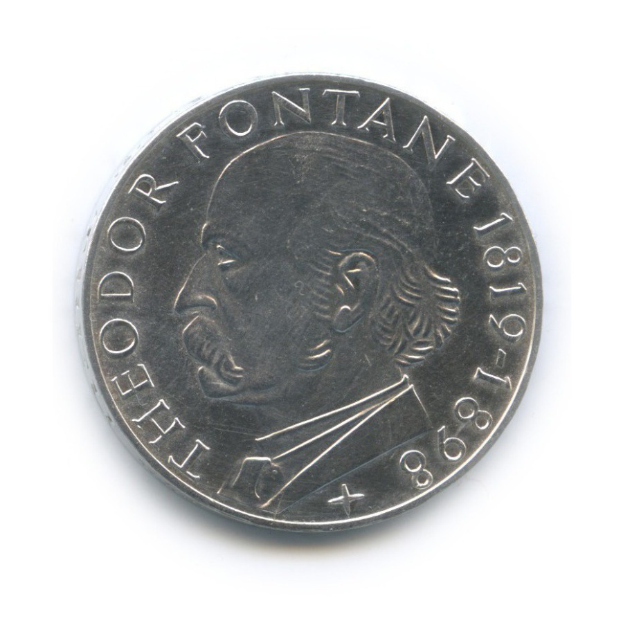 5 марок — 150 лет содня рождения Теодора Фонтане 1969 года G (Германия)