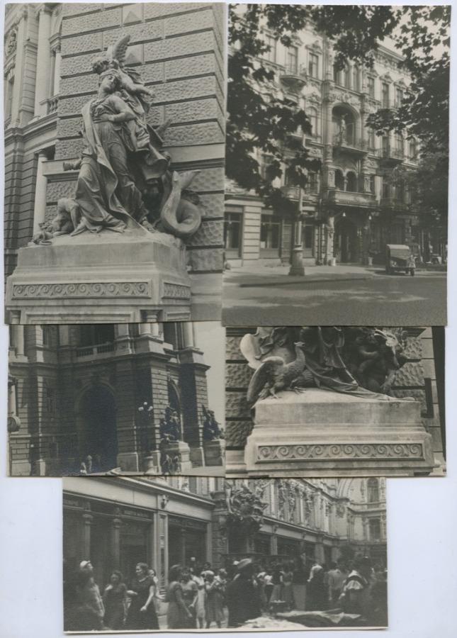 Набор фотографий (г. Одесса, 10 шт.) 1957 года (СССР)
