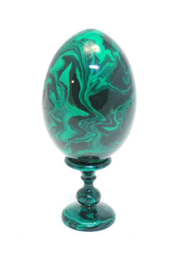 Яйцо пасхальное наподставке (сувенирное, дерево, 11 см)