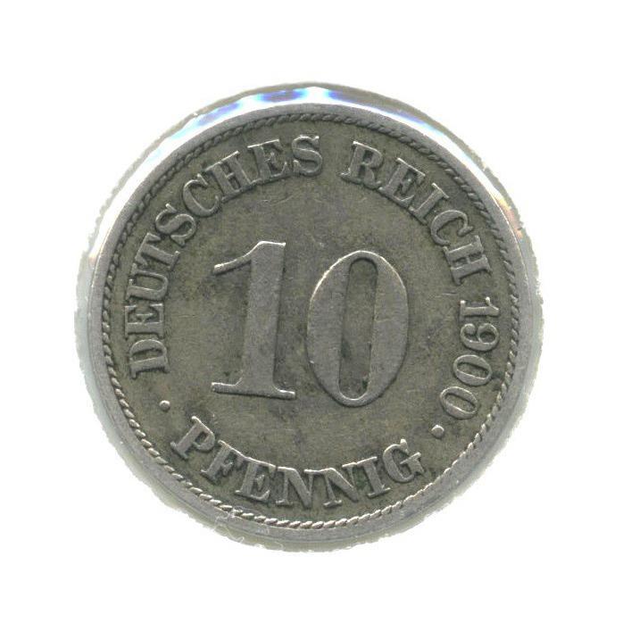 10 пфеннигов (вхолдере) 1900 года A (Германия)