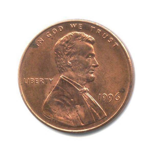 1 цент 1996 года (США)