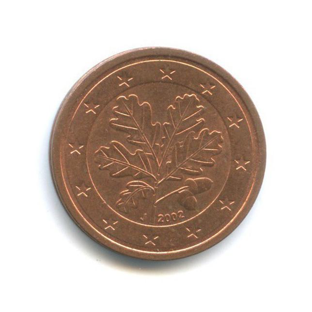 2 цента 2002 года J (Германия)