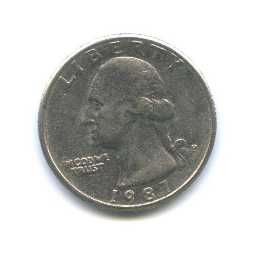25 центов (квотер) 1987 года P (США)