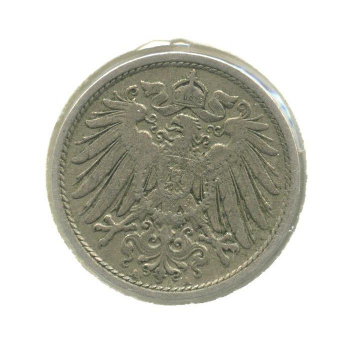 10 пфеннигов (в холдере) 1907 года А (Германия)