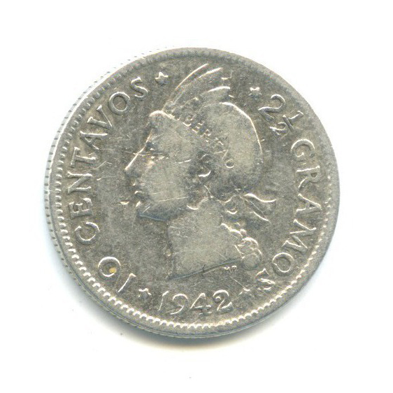 10 сентаво 1942 года (Доминикана)