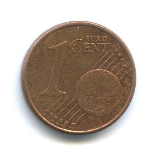 1 цент 2002 года F (Германия)