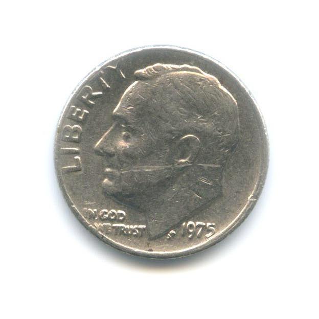 10 центов (дайм) 1975 года (США)