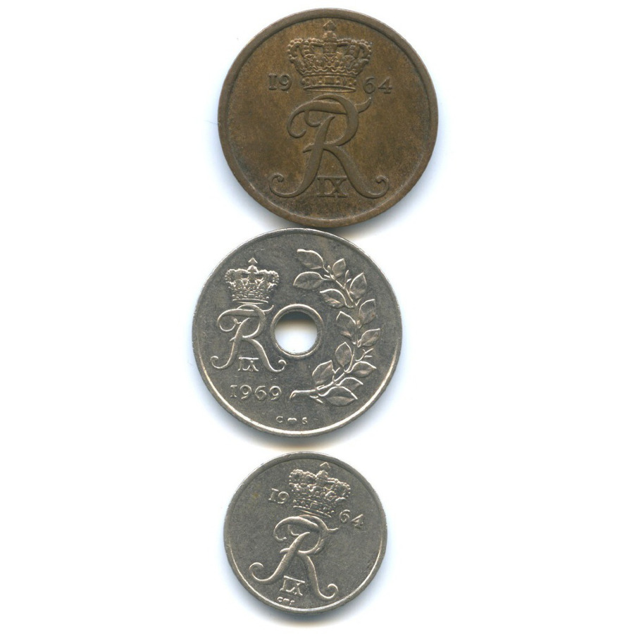 Набор монет 1964, 1969 (Дания)