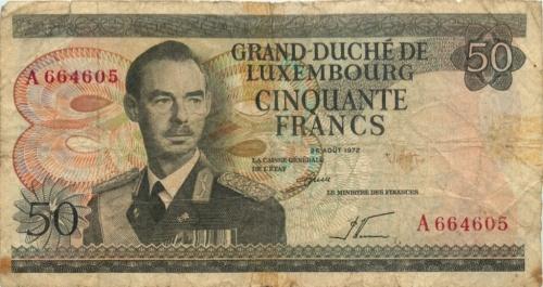 50 франков 1972 года (Люксембург)