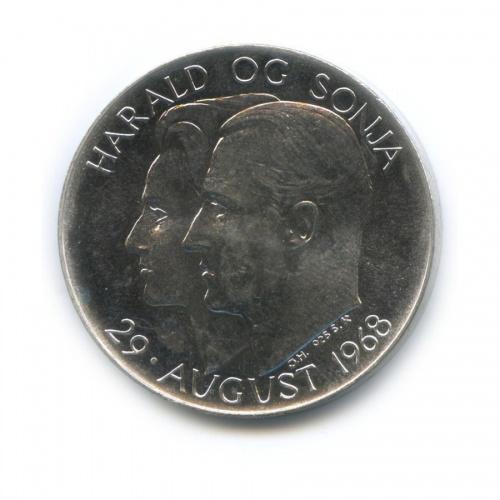 Медаль «Свадьба Кронпринца Норвегии Харальда иСони, 29 августа 1968» 1968 года (Норвегия)
