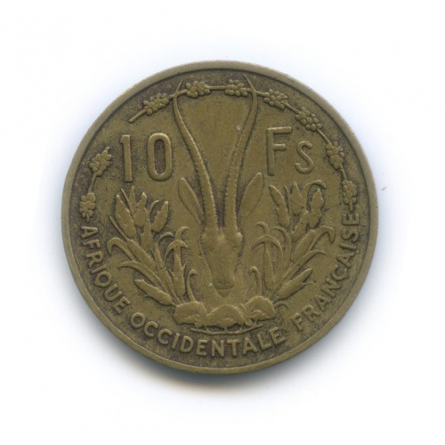 10 франков, Французская Западная Африка 1956 года