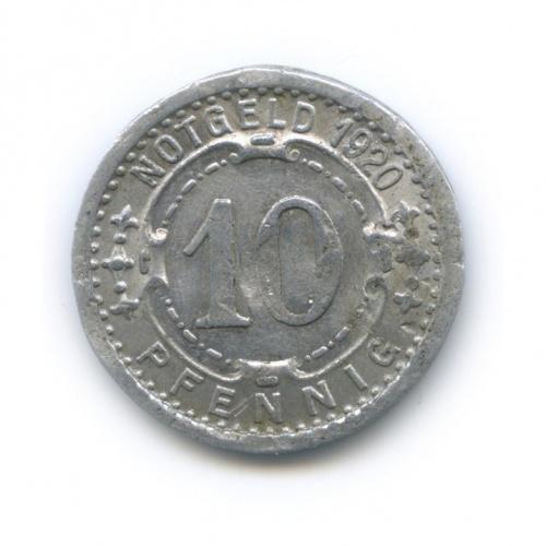 10 пфеннигов, Виттен (нотгельд) 1920 года (Германия)