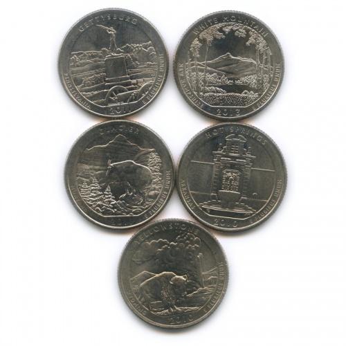 Набор юбилейных монет 25 центов (квотер) Р (США)