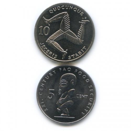 Набор юбилейных монет (Остров Мэн, Острова Кука) 1992, 2000