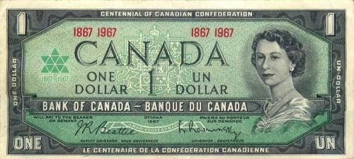 1 доллар - 100 лет канадской конфедерации 1967 года (Канада)