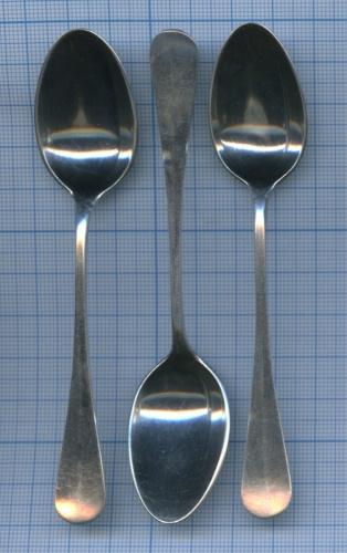 Набор кофейных ложечек (глубокое серебрение, клейма фабрики Александра Кача, 11,7 см) (Российская Империя)
