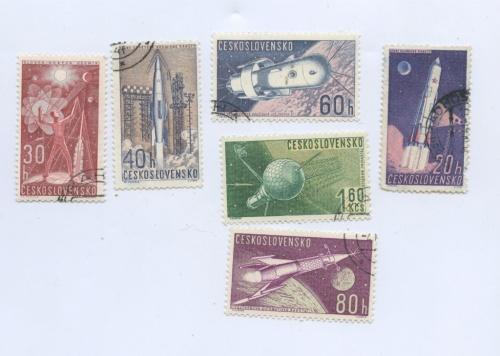 Набор почтовых марок «Космос» (Чехословакия)
