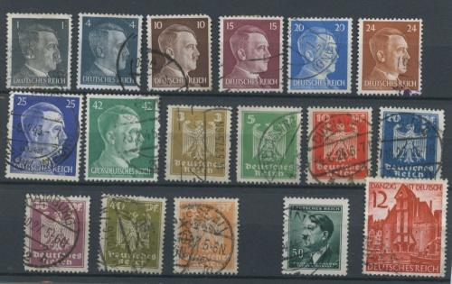 Набор почтовых марок, 17 шт. (Германия (Третий рейх))