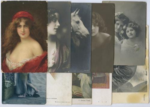 Набор открыток, разные страны (до1917 г., 10 шт.)